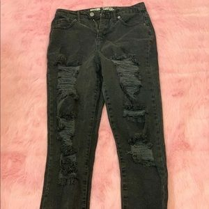 Mossimo High Waisted Black Jeans